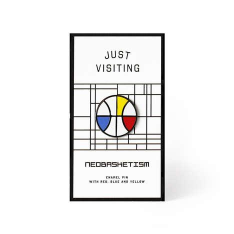 Mondrian Basketball Pins