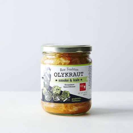 Kale-Infused Gourmet Sauerkraut