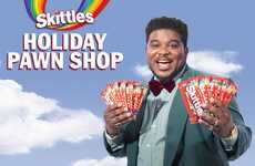 Holiday Candy Pawnshop Pop-Ups - The Skittles Holiday Pawn Shop Trades Candy for Unwanted Gifts