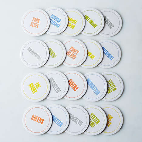NYC Borough Coasters - This NYC Coaster Set is a Must-have for Big Apple Obsessives