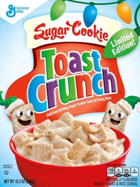 Holiday Cookie Cereals - The Sugar Cookie Toast Crunch Cereal from General Mills is Festive