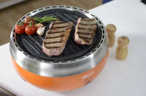 Smoke-Free Indoor Grills - The Homping Indoor Barbecue is Designed with Urban Dwellers in Mind