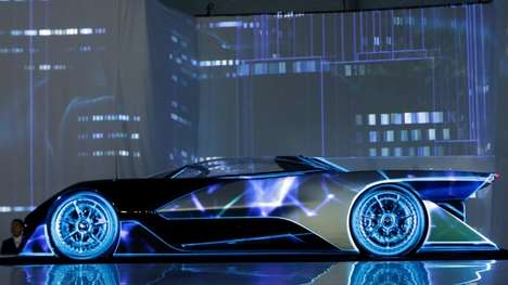 Futuristic Electric Racecars - Faraday Future Debuted Its FFZero1 Concept at CES 2016