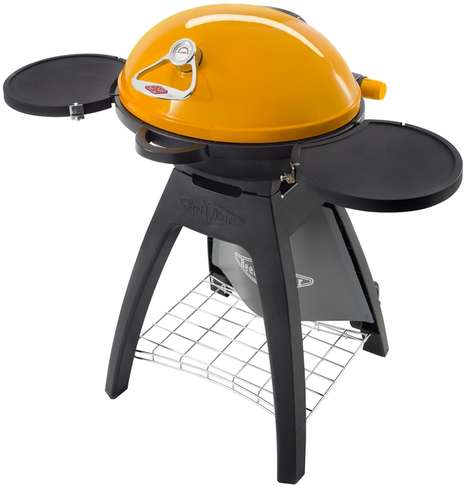 Versatile Compact BBQs - The BeefEater 'BUGG' Outdoor Gas Grill Can be Used on a Stand or Table