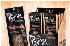 Meatless Vegan Jerky - Primal Spirit Foods' Vegan Snacks are Made with Seitan, Soy or Mushrooms