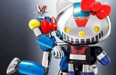 Co-Branded Feline Toys - Hello Kitty is Given a Mazinger Z Makeover with This Brand New Toy