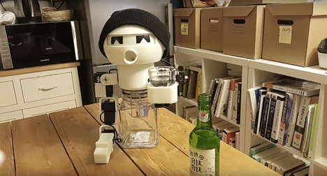 Drinking Companion Robots - The Bro-Bot Ensures That You Never Drink Alone