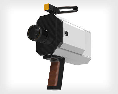 Digitized Retro Cameras - The Classic Kodak 'Super 8' Camera Receives a Modern Makeover at CES 2016