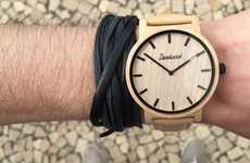 Handcrafted Wooden Timepieces - These Deadwood Apparel Watches are Made of All-Natural Wood