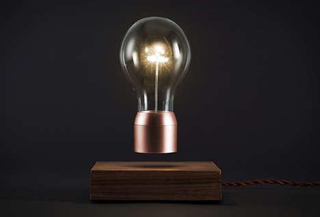 Surrealist Levitating Lightbulbs