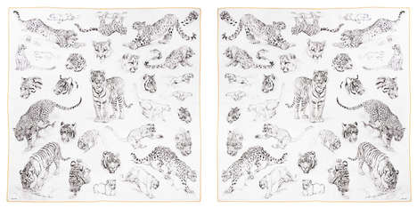 Awareness Couture Scarves - Hermès is Supporting the Wild Cat Conservation with its Latest Design