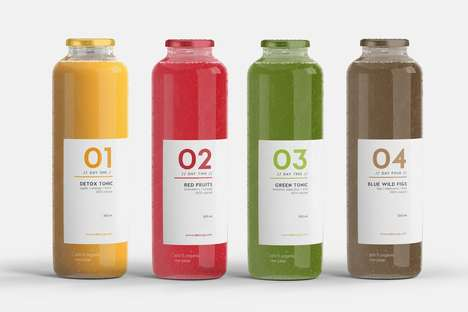 Vibrantly Branded Juice Detoxes - DETOX3 is a Detoxifying Juice Brand Based in Barcelona