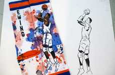 Artist-Designed Basketball Socks