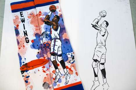 Artist-Designed Basketball Socks - Stance's 'NBA Legends Collection' Was Designed by Todd Francis