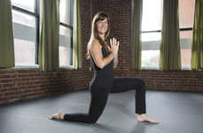 Padded Yoga Leggings - Evolution Activewear's Comfortable Workout Clothes Feature Built-In Knee Pads