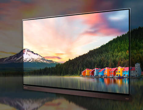 Translucent Frame Smart TVs - The LG HDR Pro 4K OLED TV was Debuted at CES 2016