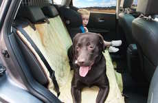 Canine Seat Protectors - The Backseat Dog Seat Cover Protects with a Soft Finish to Sooth Canines