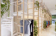 Modular Maternity Boutiques - The Mit Mat Mama Store in Barcelona is Brimming with Plant Life