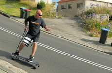 Skateboard Brake Systems - The 'Boarder Kontrol' Skateboard Enhances Skateboard Safety
