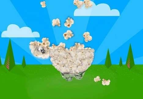 Sheep-Shaped Popcorn Bowls