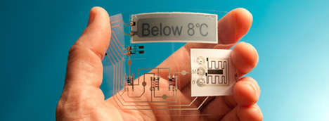 Temperature-Sensing Labels - The ThinFilm Electronic Temperature Sensor Monitors Products