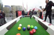 Oversized Billiards Promotions - This Citroen Event Showcased the Brand's New Airbump Technology