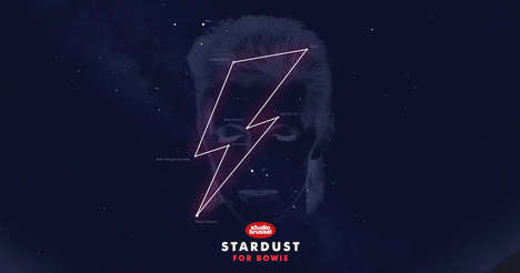Celebrity Constellation Tributes - The Late David Bowie Was Honored with His Very Own Stardust