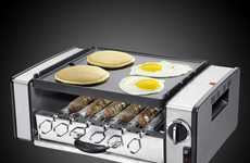 Compact Multi-Cooking Grills - The Cuisinart Griddler Cooks Multiple Types of Foods at Once