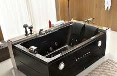Romantic Dual Jacuzzis - This Bathroom Tub Design is Meant to House Two People Side-by-Side