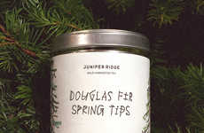 Herbal Tree Teas - The Douglas Fir Spring Tip Tea is Made Using Fresh Pine Needles