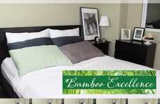 Luxe Bamboo Bed Sheets - These 'Bamboo Excellence' Sheets & Blankets Contain a 300 Thread Count