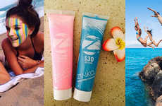 Colorful Zinc Oxide Sunscreens - Zinka Sunscreen Naturally Protects Skin from Harmful UV Rays