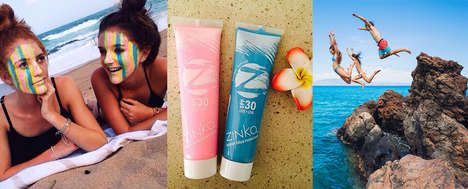 Colorful Zinc Oxide Sunscreens