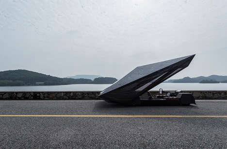 Polygon-Shaped Concept Cars - The United Nude Lo Res Concept Car Boasts a Futuristic Shape