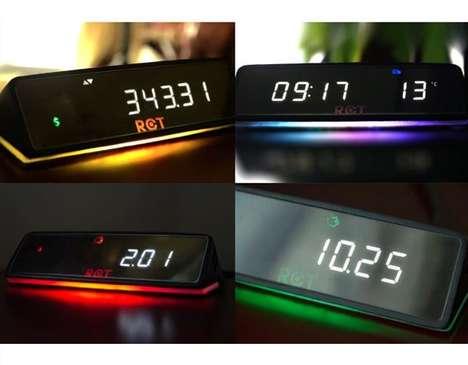 Money-Tracking Clocks