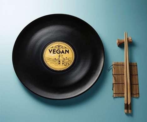 Vinyl-Inspired Dinner plates