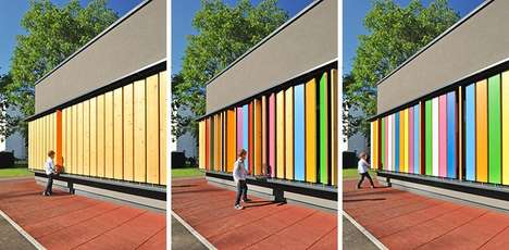 Colorful Interactive Kindergartens - This Interactive Building Facade Encourages Children to Play
