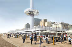 Vertical Cable Cars - The British Airways i360 Glass Tower Features Unparalleled Views of London