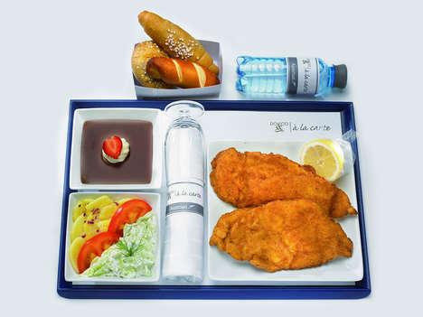 In-Flight Schnitzel Servings