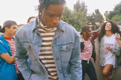 Rapper-Selected Casualwear - The A$AP Rocky GUESS Collaboration Revisits 90s Styles and Silhouettes