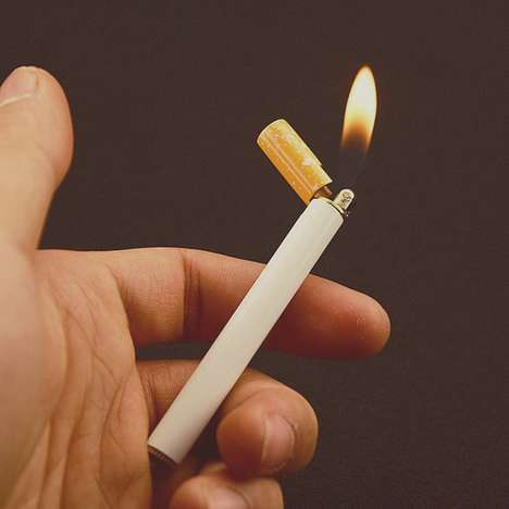 Decieving Cigarette Lighters - This Slender Lighter Features a Creatively Literal Design
