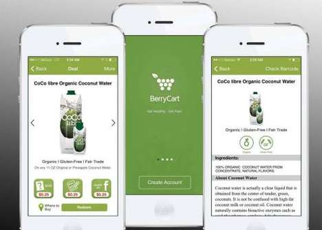 Encouraging Healthy Eating Apps - BerryCart App Rewards Users for Eating Well with Discount Offers