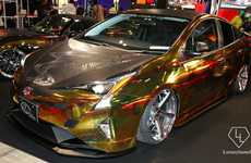 Flashy Fuel Efficient Cars - This Eco-Friendly Toyota Prius Features a Dazzling Custom Chrome Body
