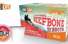 Protein Broth Capsules - The Beef Bone Broth K-Cups Create Soup at the Touch of a Button
