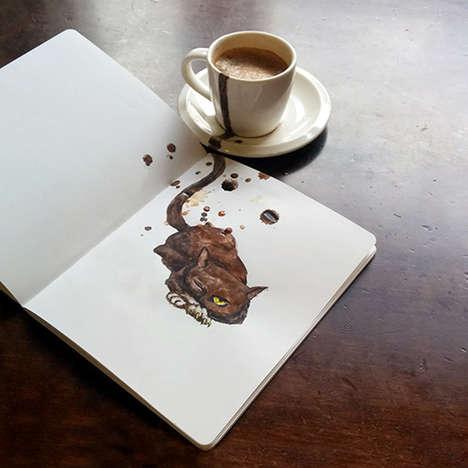 Feline Coffee Art