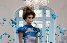 Ethereal Smart Gowns - Intel's Intelligent Dress Displays Breathtaking Fluttering Butterflies