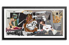 Crossover Sci-Fi Illustrations - The Guernica x Star Wars Illusration Features Distorted Characters