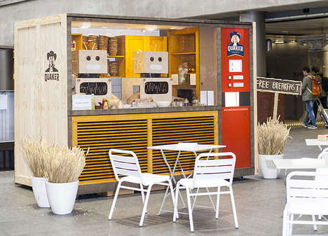 Breakfast Vending Machines - Quaker's Pop-Up Breakfast Vending Machine Doles Out Free Meals