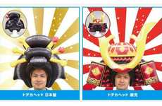 Inflatable Samurai Helmets - The Dodeca Samurai Helmet Makes You Look Like a Traditional Warrior