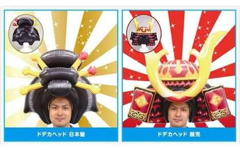 Inflatable Samurai Helmets